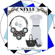 """""""Style Chic"""" featuring the Polynesia Necklace/Earring Set and the Midnight Convertible Handbag"""
