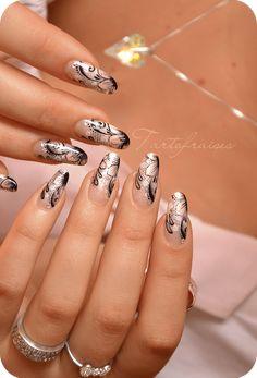 Nail art dentelle d'aquarelle tout en finesse Lace Nail Art, Lace Nails, Cool Nail Art, Pink Nails, Elegant Nail Designs, Elegant Nails, Cute Nail Designs, Gorgeous Nails, Pretty Nails