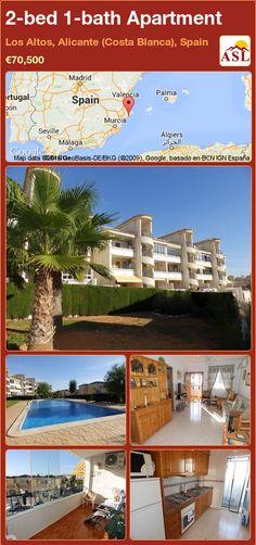 2-bed 1-bath Apartment in Los Altos, Alicante (Costa Blanca), Spain ►€70,500 #PropertyForSaleInSpain