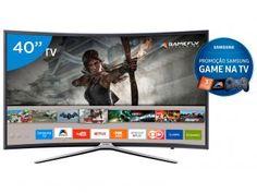 """Smart TV LED Curva 40"""" Samsung Full HD 40K6500 - Conversor Digital 3 HDMI 2 USB Wi-Fi"""