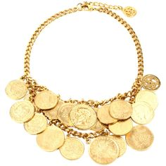 Ben Amun Moroccan Coin Double Row Necklace ($400) ❤ liked on Polyvore featuring jewelry, necklaces, accessories, bohemian jewelry, boho style jewelry, coin necklace, layered necklace and bohemian necklaces
