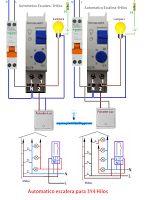 Esquemas eléctricos: Esquema eléctrico automático escalera para 3 y 4 h...
