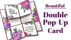 Pop Out Cards, Fun Fold Cards, Folded Cards, Diy Cards, Cool Birthday Cards, Card Making Tutorials, Crafts To Make And Sell, Cards For Friends, Album