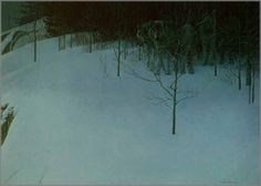 Robert Bateman - Clear Night - Wolves