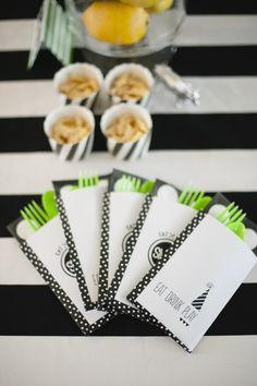Cutest ever utensil bags. Photography by Melissa Oholendt Photography / melissaoholendt.com, Event Styling by Live the Fancy Life / livethefancylife.com