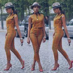 Are you a fashion designer looking for professional tailors to work with? Gazzy Consults is here to fill that void and save you the stress. We deliver both local and foreign tailors across Nigeria. Call or whatsapp 08144088142 For your latest styles and g African Print Pants, African Print Dresses, African Fashion Dresses, African Dress, Fashion Outfits, Ghanaian Fashion, African Prints, Fashion Women, Fashion Ideas