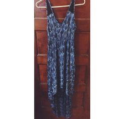 Blue Express Maxi Dress Perfect for the summer with a lace back. Worn but in excellent condition. Express Dresses Maxi