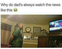 Hahaha!!! This is exactly what my dad does with Fox News and the Weather Channel! All other channels, he's on the couch - asleep!