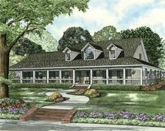 Covered Wraparound Porch - 59707ND | 1st Floor Master Suite, CAD Available, Corner Lot, Country, Media-Game-Home Theater, PDF, Wrap Around Porch | Architectural Designs