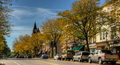Downtown Brockport in the Fall