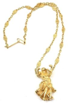 "Salvador Dali ""Carmen La Crotalos"" Yellow Gold Necklace image 3"