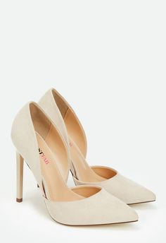 Monika Shoes in Nude Faux Suede - Get great deals at JustFab