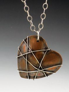 Necklace |  Michele Grady.  Copper and sterling silver