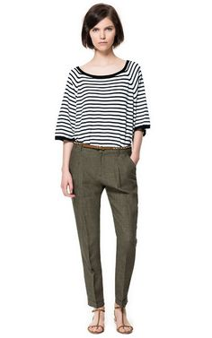 Image 1 of LINEN MARL TROUSERS from Zara