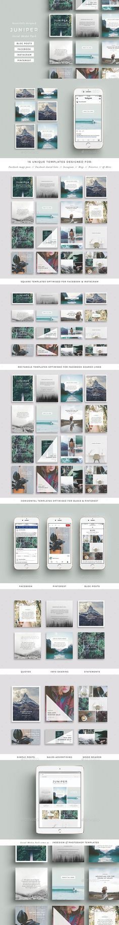 Juniper Social Media Pack — PSD Template #best social media #Pinterest • Download ➝ https://graphicriver.net/item/juniper-social-media-pack/18468890?ref=pxcr