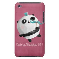 Mustache sparkley i Pod caces | ... mustaches meet my cute curly panda bear with fake mustaches on the