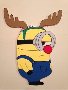 minions christmas yard art decoration... by PlayfulYardArt