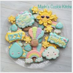 "Madri Mahtani on Instagram: ""You are my sunshine....#madriscookiekitchen #decoratedcookies #youaremysunshine"""