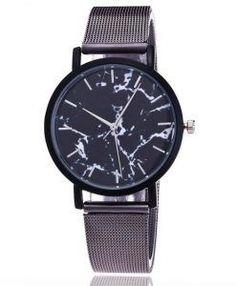 Women's Vansvar Luxury Quartz Watch, Stainless Steel Mesh Band, Marble Watch, Analog, Wrist Watch For Women reloj de mujer Simple Watches, Elegant Watches, Casual Watches, Watches For Men, Women's Watches, Wrist Watches, Ladies Watches, Cheap Watches, Watches Online