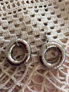 Vintage 1980s Earrings Pierced Round Ring Hoops Dangles by GoodGoodyGirlsJewels on Etsy