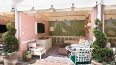 The new, updated cabanas at the Beverly Hills Hotel & Bungalows.