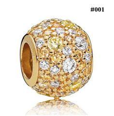 019f784a3 100% Genuine 925 Sterling Silver Gold Color Shine Pave Ball Honeybee  Droplets Fresco Tumbling Hearts. Pandora BraceletsPandora ...