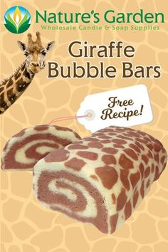 Free Giraffe Bubble Bars Recipe by Natures Garden Bath Bomb Recipes, Soap Recipes, Dessert Recipes, Desserts, Bubble Bar Recipe, Fitness Models, Birthday Morning, Homemade Bubbles, Homemade Hot Chocolate