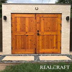Knotty Wood Carriage Door Wooden Door Design, Wooden Doors, Carriage Doors, Dutch Door, Picture Design, Entry Doors, Joinery, This Is Us, Architecture