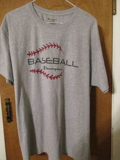 Men's Champion Short Men's Champion Short Sleeve Baseball T-Shirt Size Large Grey Running Wear, Running Pants, Sport Shorts, Mens Running, Gym Shorts, Workout Shorts, Champion Shorts Mens, Mens Fitness, T Shirts For Women