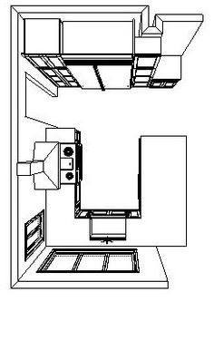 really love this kitchen floor plan