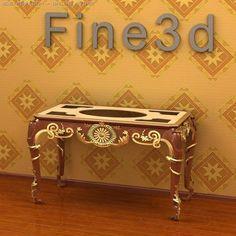 3D Model Antique09omTable016c c4d, obj, 3ds, fbx, ma, lwo 16832