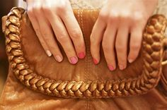 Cute ombre wedding nails <3