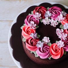 Gâteau with rosettes