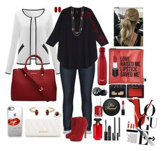 """""""Ravishing Red"""" by e-atha on Polyvore featuring Mat, Melissa McCarthy Seven7, Alexander McQueen, Essie, Casetify, Vera Bradley, Kendra Scott, Sephora Collection, MAC Cosmetics and NARS Cosmetics"""