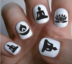 Free Shipping 70 Mixed BUDDHIST Symbol Nail Art от NorthofSalem
