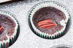 kizikuki: Brownie jaglane (babeczki) z pekanami