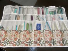 Three Gentlemen and a Lady: Knitting Needle Case Tutorial