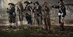 Mosqueteros de los tercios Españoles - Siglo XVII
