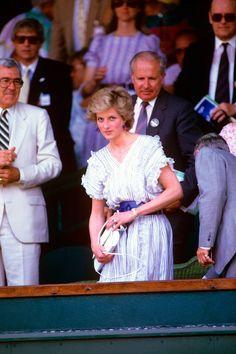Princess Diana's Wimbledon style through the years   Tatler Princess Diana Family, Princess Diana Pictures, Princess Of Wales, Real Princess, Wimbledon Dress Code, White Pleated Tennis Skirt, Sunny Dress, Official Dresses, Court Dresses