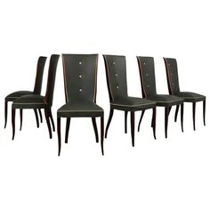 All Items from this 1stDibs Seller - Page 2 Modern Dining Chairs, Dining Room Chairs, Furniture Chairs, Dark Mahogany, Mahogany Color, Art Deco Fashion, Modern Design, Upholstery, French Art
