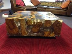 Teak & Resin Root Coffee Table  This really reminds me of smoky quartz - Neil Scott Furniture 2013 collection