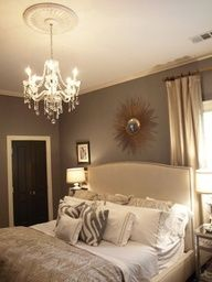 Master bedroom color scheme idea.... I love this whole set up!