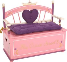 Levels of Discovery Princess Toy Box Bench by Levels Of Discovery at BabyEarth.com, $219.95