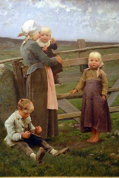 The Dalby Gate Skåne, 1884, Hugo Salmson Swedish (1843-1894)  The Way People Really Dressed