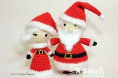 PATTERN Instant Mrs. Santa Claus Amigurumi Doll Crochet by Sahrit