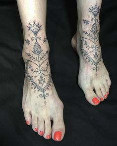 Thank you! (at Old Habits Tattoo) Tribal Foot Tattoos, Girl Leg Tattoos, Foot Tattoos For Women, Body Art Tattoos, Print Tattoos, Small Tattoos, Sleeve Tattoos, Hand Poked Tattoo, Poke Tattoo