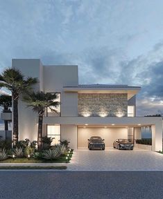 Modern House Facades, Modern Exterior House Designs, Best Modern House Design, House Front Design, Dream House Exterior, Modern Architecture House, Dream Home Design, Modern House Plans, Cool House Designs