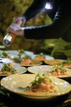 Le festin - With the chefs Sang Hoon Degeimbre (L'Air du Temps**) , Clément Petitjean (La Grappe d'or *)  and Damien Bouchery (Bouchéry). Mise en scène par La Bouche.   www.culinaria-agency.com