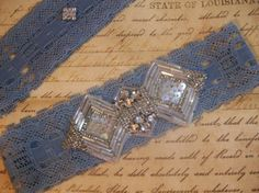 Bridal Garter Set A Little Bit of Blue with by DESIGNERSHINDIGS, $26.00