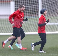 Louis practicing with the Doncaster Rovers